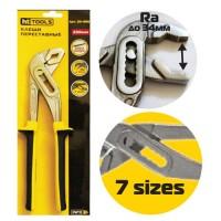Клещи переставные Cr-V, 250мм, двухкомпонентные ручки