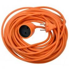 Удлинитель б/з, 1 гнезно, 5М, 16А, ПВС 2Х1,5, оранжевый