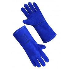 Краги спилковые синие