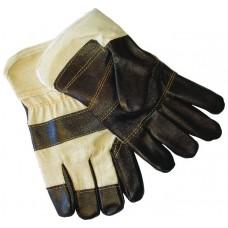 Перчатки мебельная кожа + х/б манжет