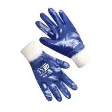 Перчатки нитриловые с трикотажным манжетом