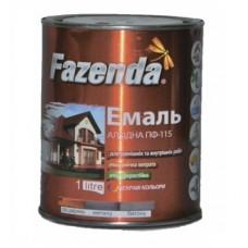 Эмаль ПФ-115 Fazenda белая банка 2,8 кг